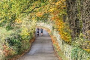 Rural lane, Froggatt Bridge. There are few main roads in the Peak District but down in its dales is a network of rural lanes lined by hedgerows, perfect for autumn walks, runs and bike rides. Peak-nearfroggattbridge-1-28