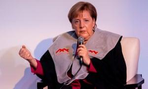 German Chancellor Angela Merkel in Israel on Thursday