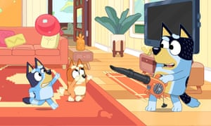 A screenshot from the kids' show Bluey