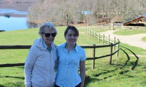 Gillian Harvey with her nan