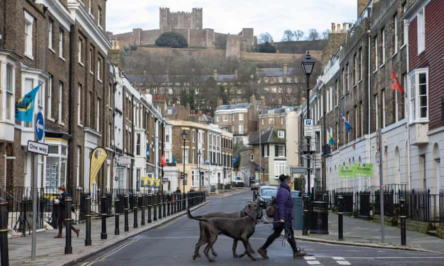 Dover Castle looms over the Kent town which will be placed under the highest tier 3 restrictions this week.