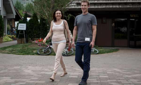 Sheryl Sandberg and Mark Zuckerberg.