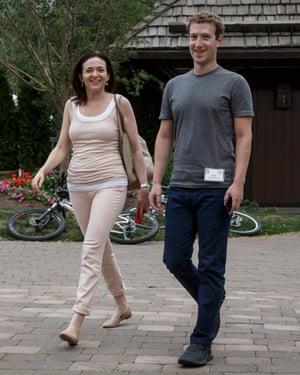 Sheryl Sandberg with Mark Zuckerberg