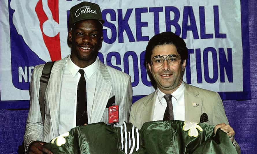 Len Bias after being picked for Boston Celtics.