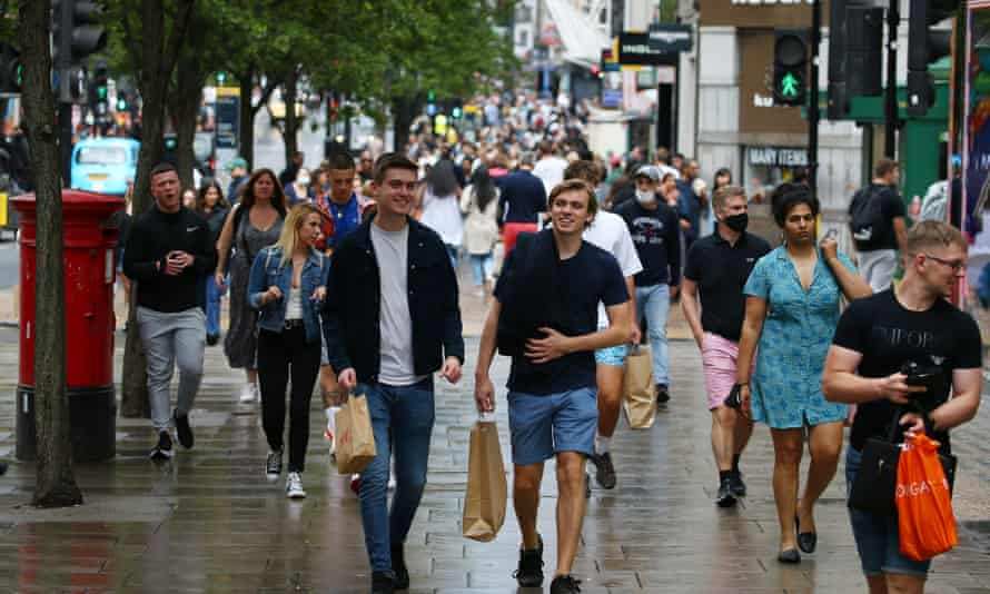 Shoppers on Oxford Street after Covid restrictions were lifted this summer.