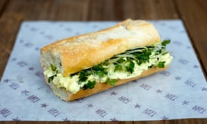 The vegan eggless mayo and cress baguette will go on sale next week.