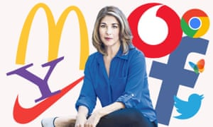 Naomi Klein with some brand logos