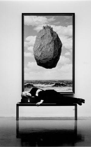 Magritte sleeping, New York, 1965