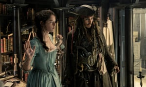 Scodelario with Johnny Depp in the latest Pirates of the Caribbean