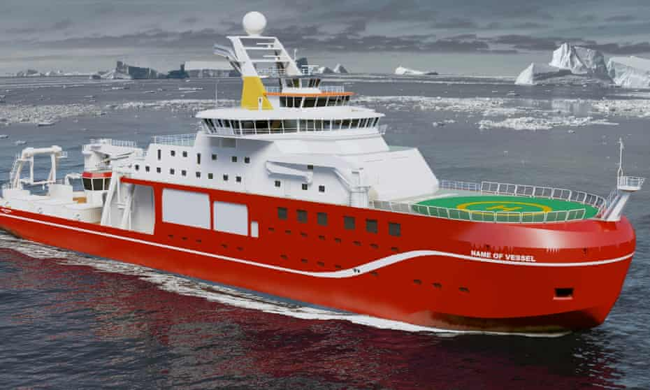 The polar research ship, to be named RRS Sir David Attenborough.
