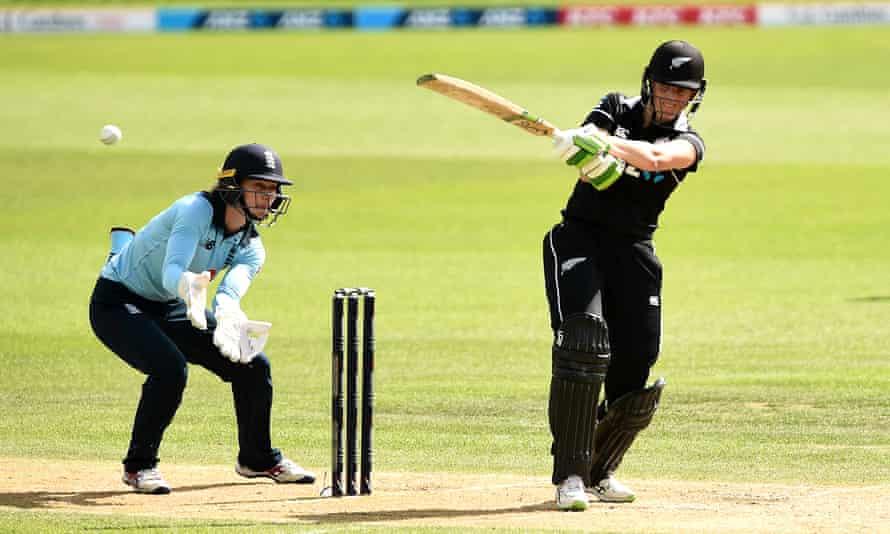 Amy Satterthwaite made an unbeaten century for New Zealand.