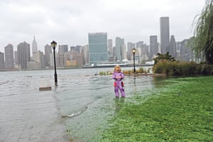 A view of New York from Long Island after Hurricane Sandy hit in October 2012.