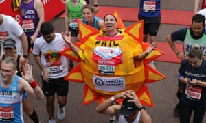 Finishing line of the Virgin London Marathon 2019
