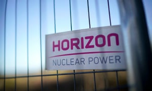 Fencing surrounding the location of the planned – and now scrapped – Wylfa nuclear power station.