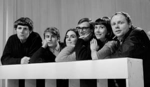 Bron, third from left, with the cast of Not so Much a Programme More a Way of Life in 1964.