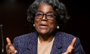 Linda Thomas-Greenfield appeared before the Senate Foreign Relations Committee hearing on her nomination to be the United States Ambassador to the United Nations, on Capitol Hill.