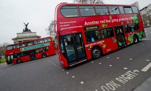 Hybrid buses in London