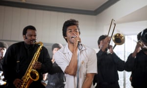 Chadwick Boseman as legendary soul singer James Brown in Get on Up, 2014