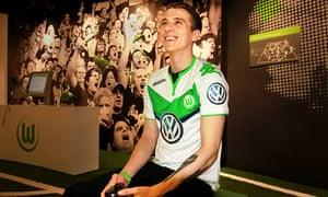 David Bytheway in his new Wolfsburg kit