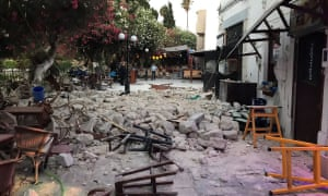 Damage caused by the earthquake in Kos