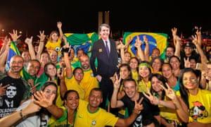 Bolsonaro supporters celebrate in Brasilia