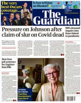 Portada de Guardian, martes 27 de abril de 2021
