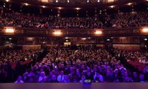 The audience at the Guardian Live EU referendum debate at the London Palladium.
