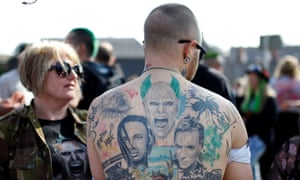 Fans in Essex for Keith Flint's funeral.