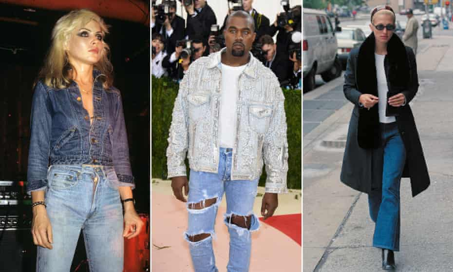 Composite image showing (from left) Debbie Harry, Kanye West, and Carolyn Bessette Kennedy.