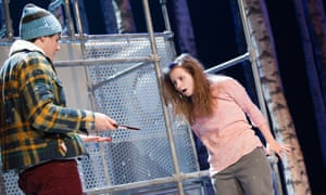Martin Quinn and Rebecca Benson in Let the Right One In at the Royal Court in 2013.