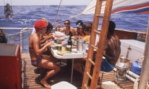 All at sea … footage of the 1973 voyage features in The Raft.