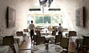 The restaurant at the Ice House Hotel, County Mayo, Ireland