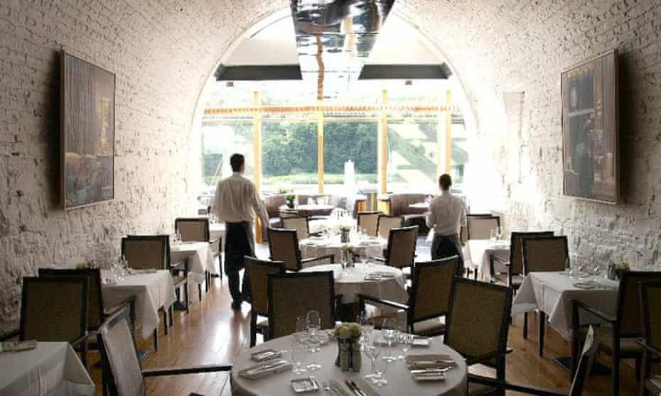 The restaurant at the Ice House Hotel, County Mayo, Ireland