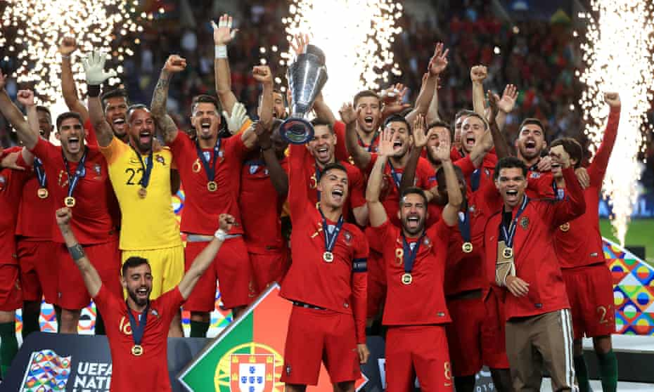 Portugal celebrate winning the 2019 Nations League