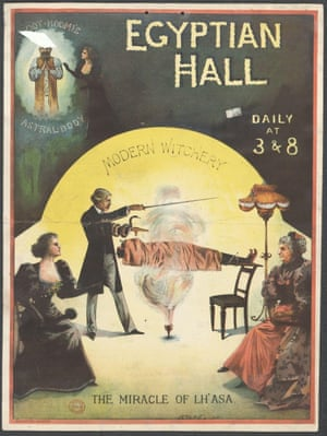 John Nevil Maskelyne in action, part of the exhibition Victorian Entertainments: There Will Be Fun.