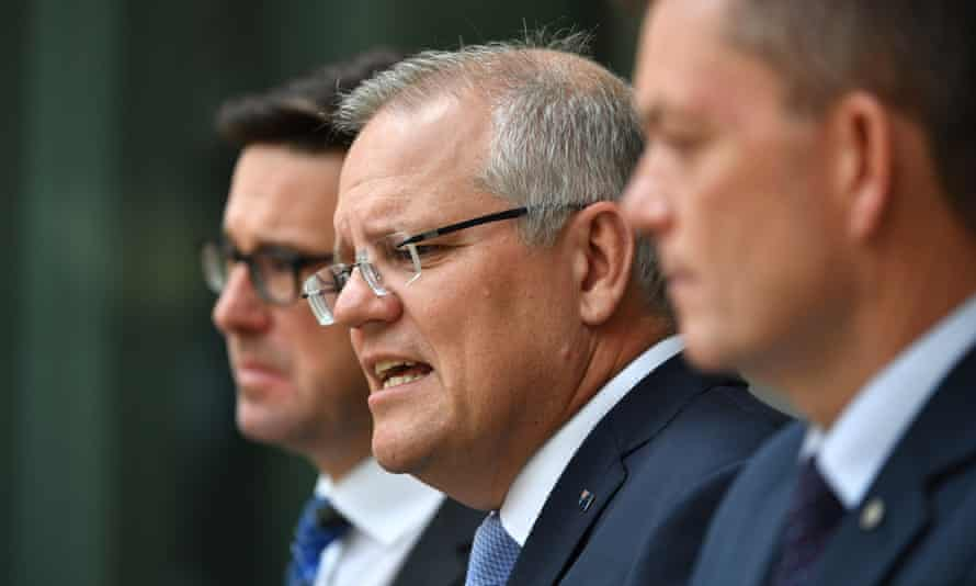 Scott Morrison at a press conference