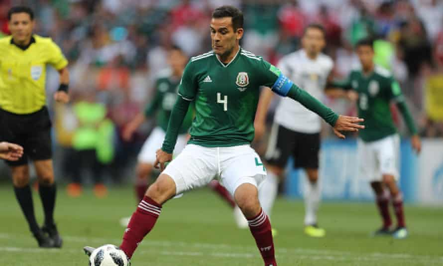 Rafael Márquez during Mexico's 1-0 defeat of Germany.