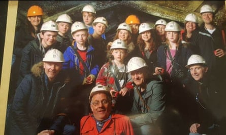 A group of visitors to the mining museum in pre-Covid times.