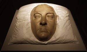 A life mask of George Frideric Handel, by Roubiliac and dating from the 1740s.