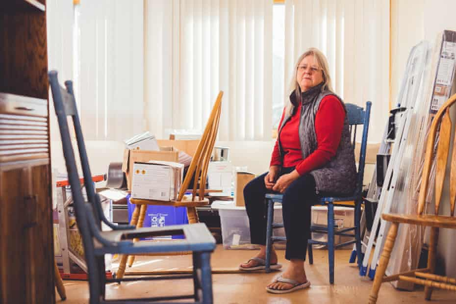 Tricia Campbell McAvoy sits for a portrait in her home in Brick, New Jersey on 23 October 2017.