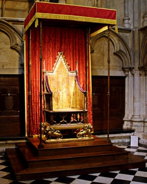 The coronation chair at Westminster Abbey