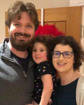 James Ling, with his daughter, Isabelle, and wife, Rachael.