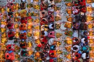 Hindu worshippers celebrate the three-day Rakher Upabas ritual at Loknath Temple in Barodi, Bangladesh