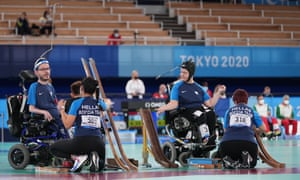 Team Greece competes against Team Hong Kong in the Boccia pairs – BC3 bronze medal match