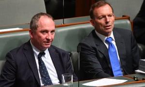 Barnaby Joyce and Tony Abbott