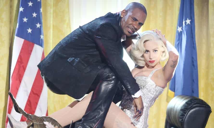 R Kelly and Lady Gaga in 2013.