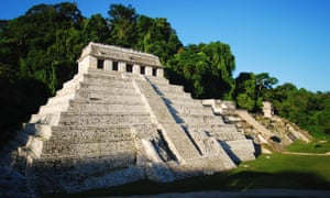 The Temple of Inscriptions at the archaeological site of Palenque, in the state of Chiapas, where archaeologists found a network of underground water canals dating from the seventh century.