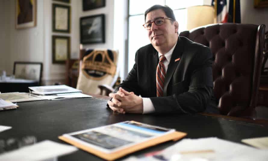 Democrat Pittsburgh Mayor Bill Peduto at his office in Pittsburgh, Pennsylvania, on June 2, 2017.