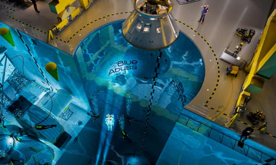 A computer illustration of the planned pool, the Blue Abyss, which will be the world's leading extreme environment research, test and training centre when it is built in Newquay, Cornwall.