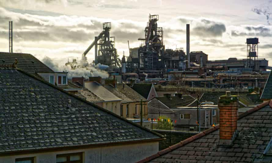 The Port Talbot steel works in Wales are the biggest in Britain.